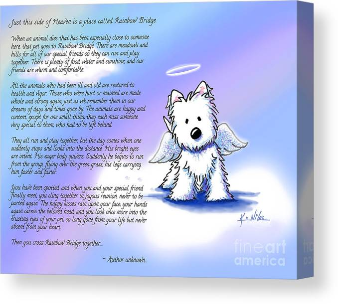 Rainbow Bridge Poem With Westie Canvas Print Canvas Art By Kim Niles