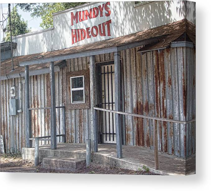 Architecture Canvas Print featuring the photograph Rusty Metal Architecture by Linda Phelps