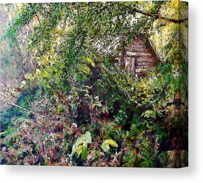 Landscape Canvas Print featuring the painting Tod's Shack by Stanley Funk