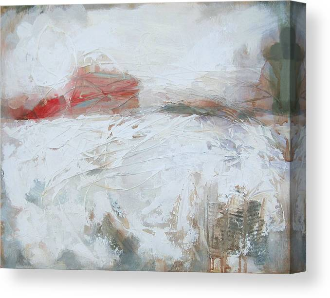 Winter Canvas Print featuring the painting Ghost Structure High Street by Mary Brooking