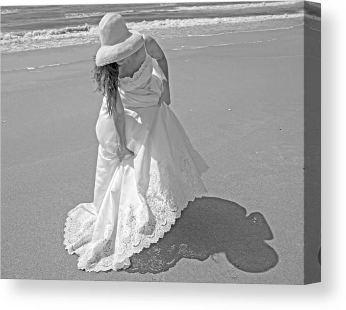 Topsail Canvas Print featuring the photograph Gown Gathering by Betsy Knapp
