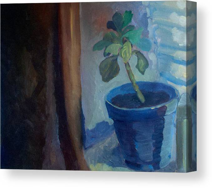 Plant Canvas Print featuring the painting Green Thumb by Lauren Luna