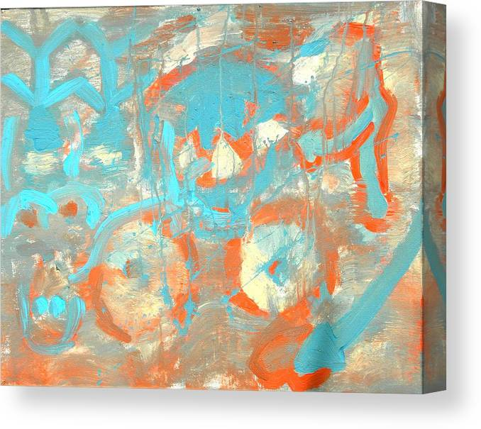 Treachery Canvas Print featuring the painting Happy Thoughts by Musat Iliescu