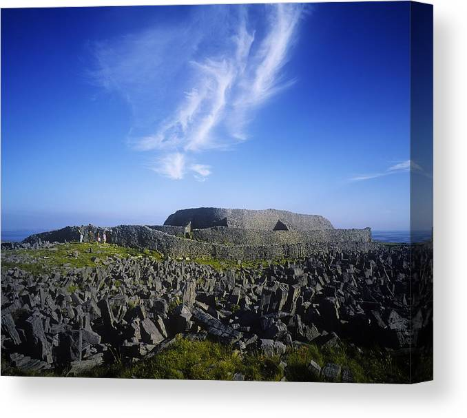 �rainn Mh�r Canvas Print featuring the photograph Old Ruins Of A Fort On The Landscape by The Irish Image Collection