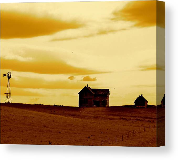 Historical Canvas Print featuring the photograph Prairie Memories by Kate Purdy