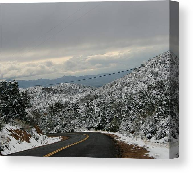 Snow Canvas Print featuring the photograph Snowy Mountain #2 by Kelsey Youngblood