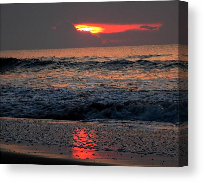 Sunrise Canvas Print featuring the photograph Sunrise Waves by Colin Clancy
