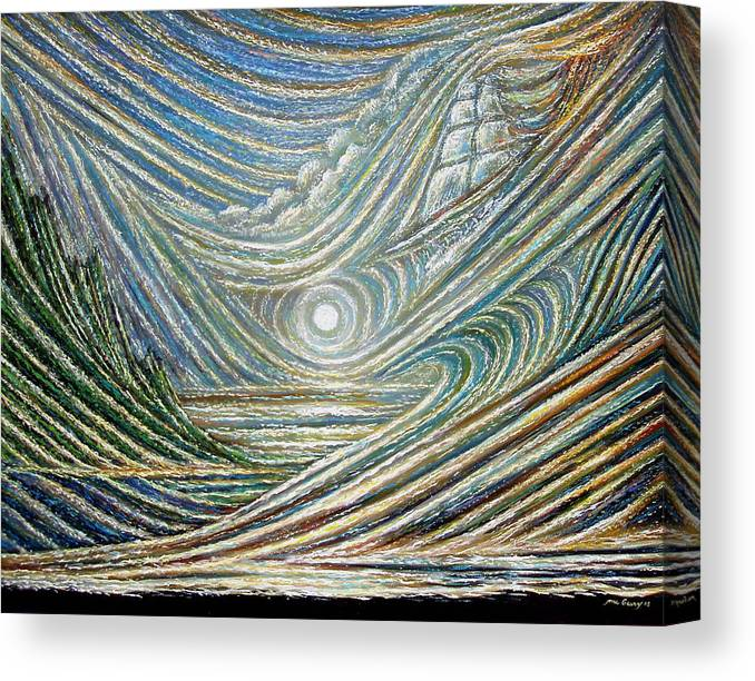 Hawaiian History Canvas Print featuring the painting Ethereal Hawaii by Dennis McGeary