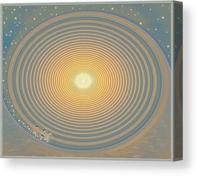 Symbolic Digital Art Canvas Print featuring the digital art The Path by Harald Dastis