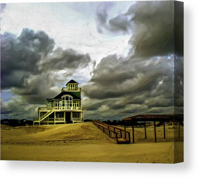 Beach Canvas Print featuring the photograph House At The End Of The Road by Gordon Engebretson