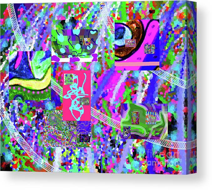 Walter Paul Bebirian Canvas Print featuring the digital art 4-12-2015cabcdefg by Walter Paul Bebirian