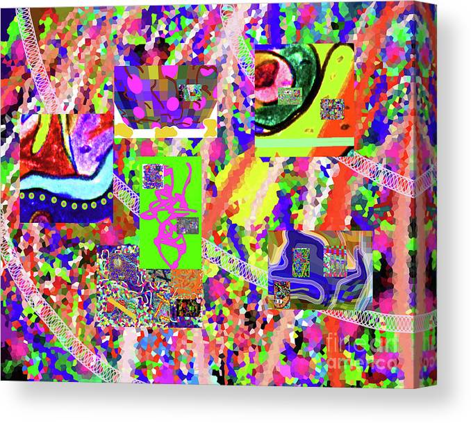Walter Paul Bebirian Canvas Print featuring the digital art 4-12-2015cabcdefghijklmnopqrtuvwxyzabcde by Walter Paul Bebirian