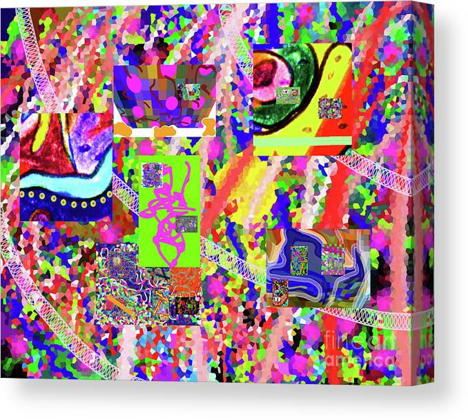Walter Paul Bebirian Canvas Print featuring the digital art 4-12-2015cabcdefghijklmnopqrtuvwxyzabcdef by Walter Paul Bebirian