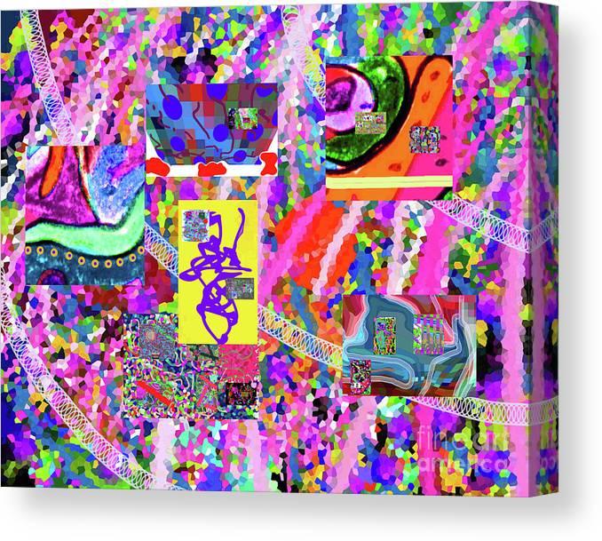 Walter Paul Bebirian Canvas Print featuring the digital art 4-12-2015cabcdefghijklmnopqrtuvwxyzabcdefghij by Walter Paul Bebirian