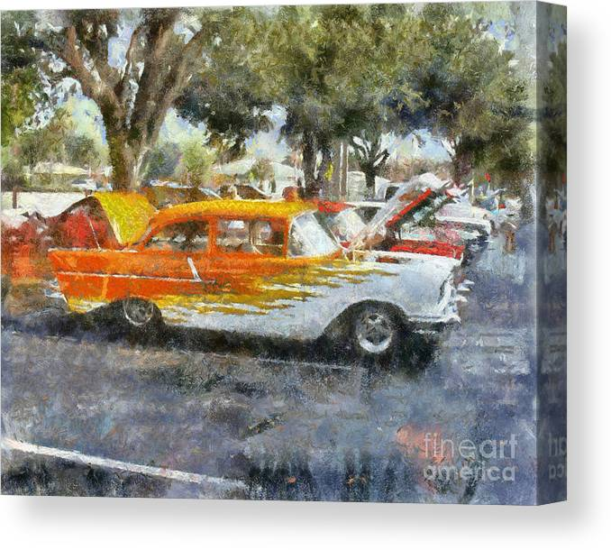 57 Chevy Canvas Print featuring the painting 57 Chevy by Chris Colter