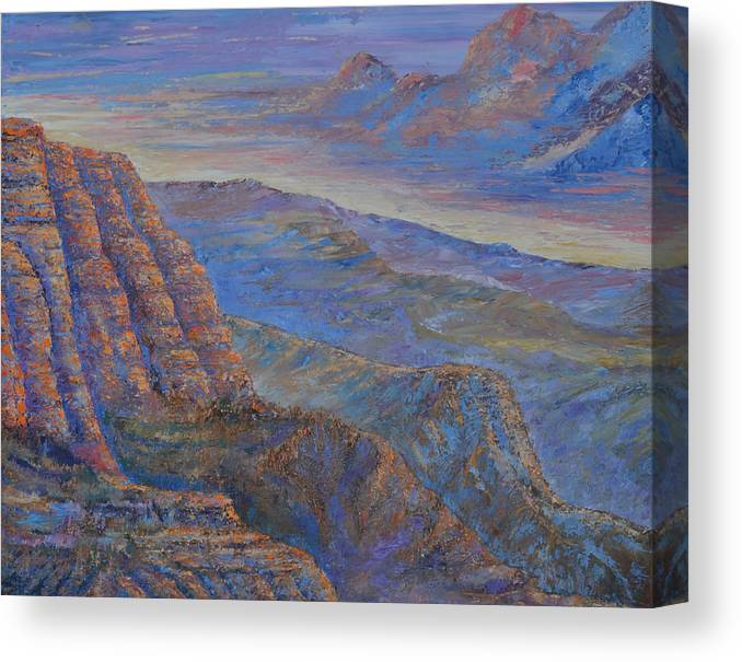 Landscape Canvas Print featuring the painting Untitled by Michael LaZar