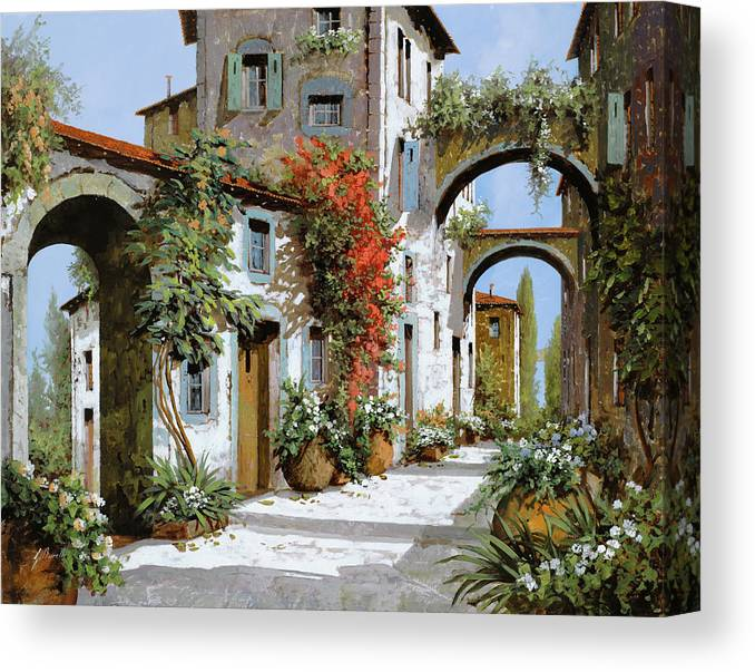 Arches Canvas Print featuring the painting Altri Archi by Guido Borelli