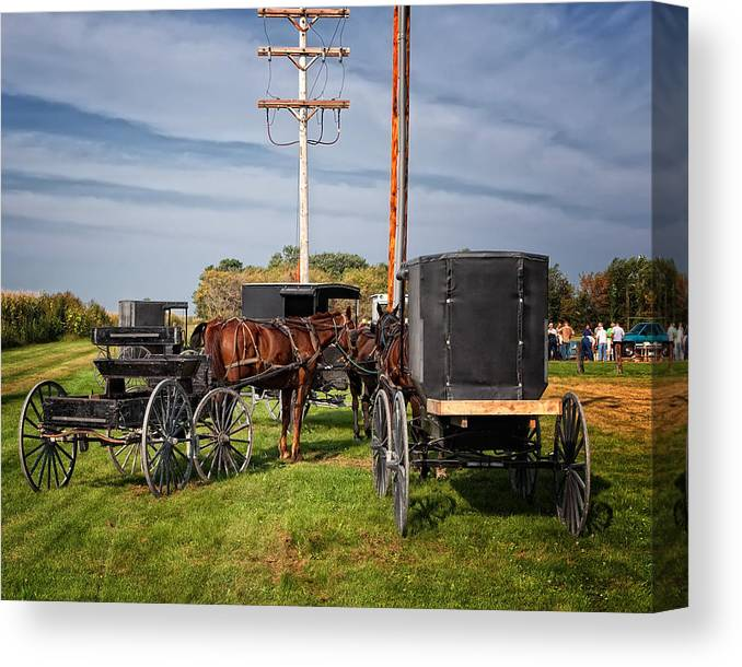 Amish Canvas Print featuring the photograph Amish At The Auction by Al Mueller