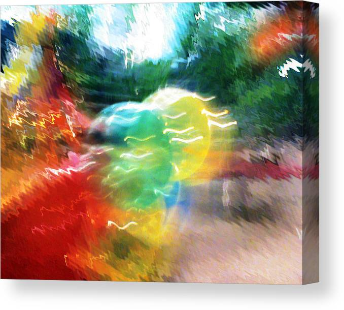 Baloons Canvas Print featuring the painting Baloons N Lights by Anil Nene