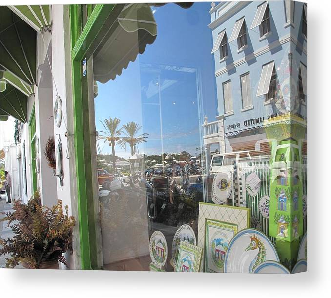 Bermuda Canvas Print featuring the photograph Bermuda Reflections And Contrasts by Ian MacDonald