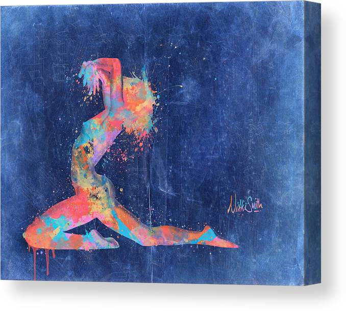 Bodyscape Canvas Print featuring the digital art Bodyscape In D Minor - Music Of The Body by Nikki Marie Smith