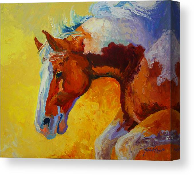 Western Canvas Print featuring the painting Bronc I by Marion Rose