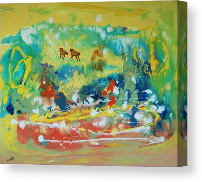 Contemporary Canvas Print featuring the painting C Est La Vie by Annie Rioux