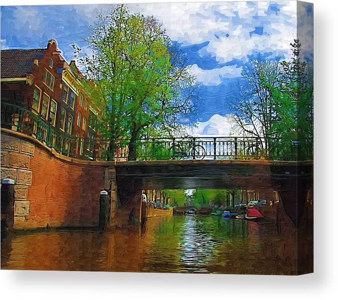 Amsterdam Canvas Print featuring the photograph Canals Of Amsterdam by Tom Reynen