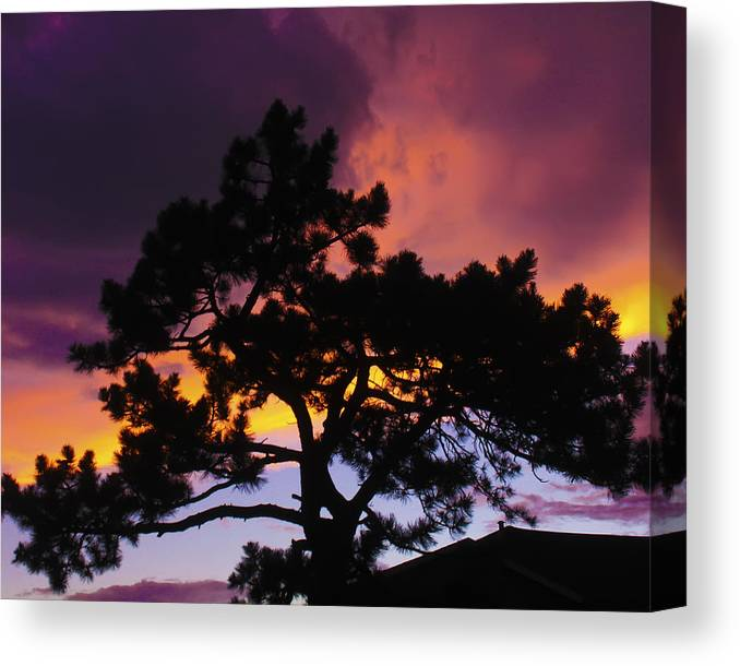 Sunset Canvas Print featuring the photograph Colorful Colorado Sunset by Perspective Imagery