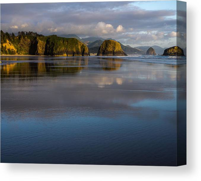 Beach Canvas Print featuring the photograph Crescent Beach Reflections by Robert Potts