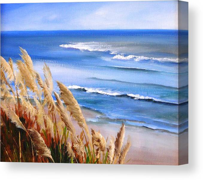Ocean Canvas Print featuring the painting Del Playa by Dorothy Nalls