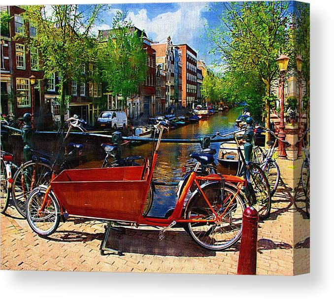 Bike Canvas Print featuring the photograph Delivery Bike by Tom Reynen