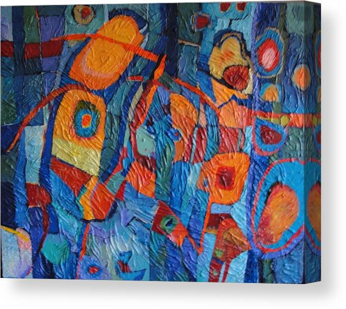 Abstract Canvas Print featuring the painting Don Quixote by Bernard Goodman