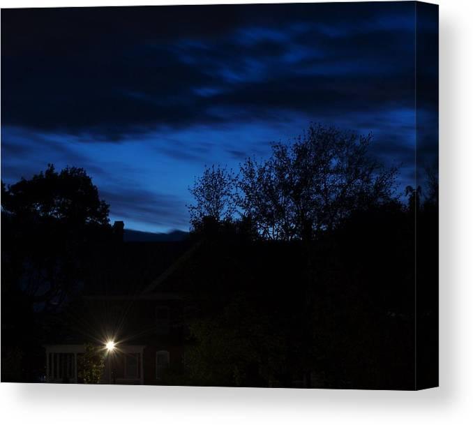 Silhouette Canvas Print featuring the photograph Dusk by Faith Harron Boudreau
