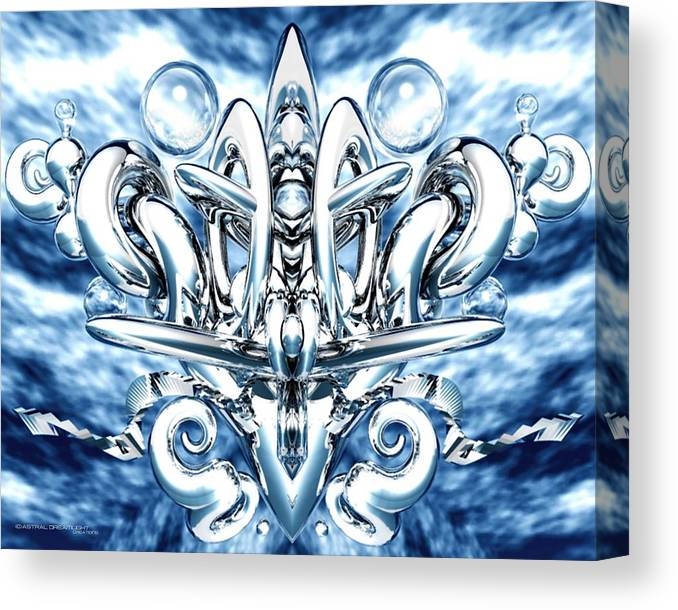 Abstract Canvas Print featuring the painting Elation by Dreamlight Creations