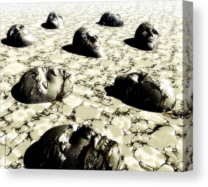 Abstract Canvas Print featuring the painting Empty by Dreamlight Creations