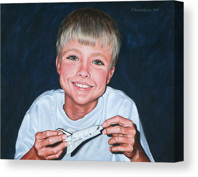 Portrait Canvas Print featuring the painting Enthusiasm by Penny Birch-Williams