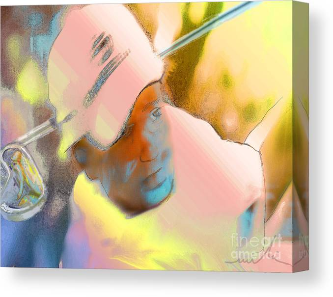 Golf Canvas Print featuring the painting Golf Dream by Miki De Goodaboom