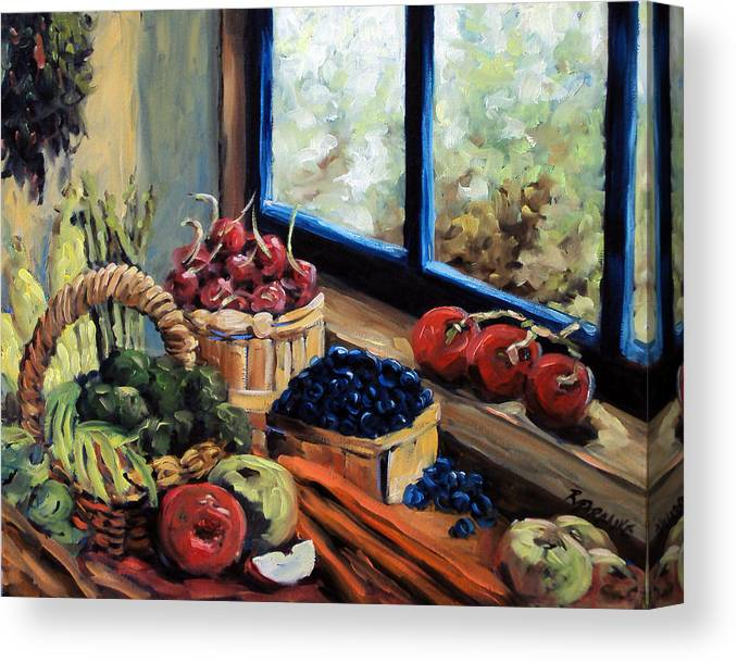 Art; Painting Canvas Print featuring the painting Good Harvest by Richard T Pranke