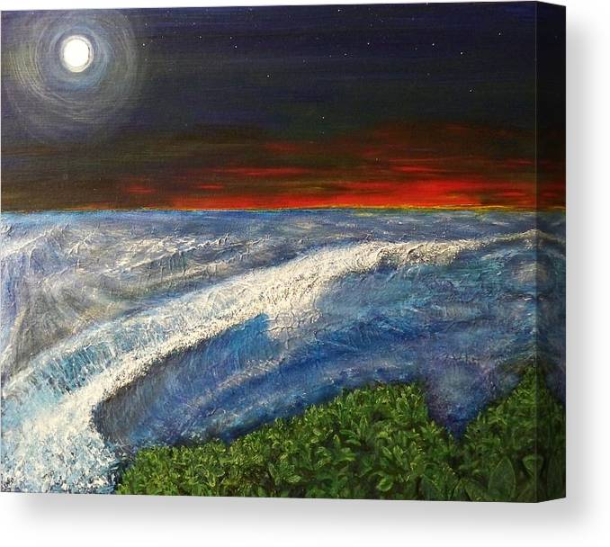 Beaches Canvas Print featuring the painting Hawiian View by Michael Cuozzo