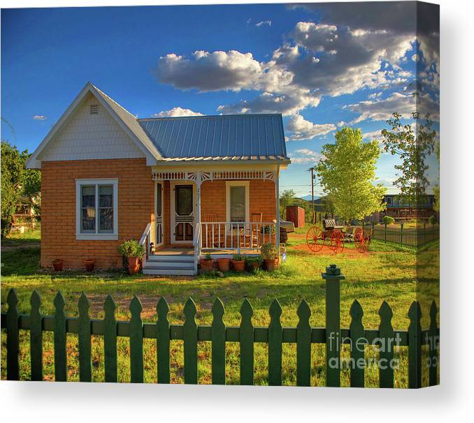 Landscape Canvas Print featuring the photograph Historic Tombstone In Arizona by Charlene Mitchell