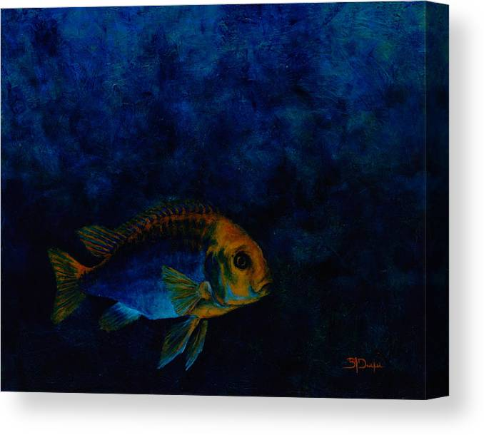 Fish Canvas Print featuring the painting Hooky by Beth A Doellefeld