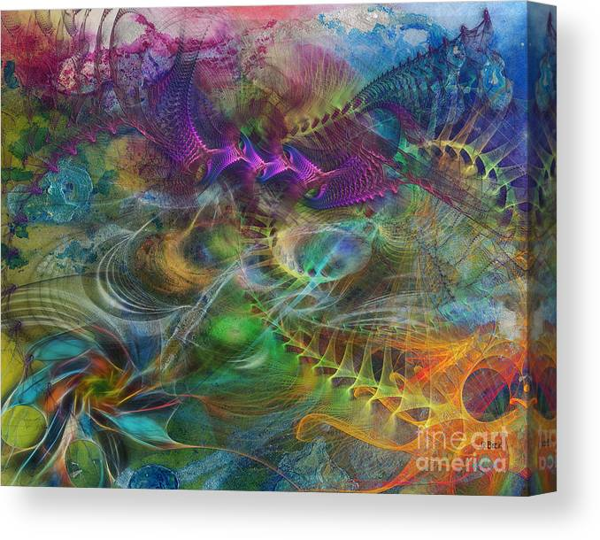 In The Beginning Canvas Print featuring the digital art In The Beginning by John Robert Beck