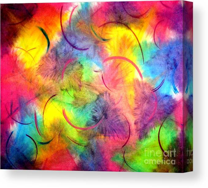 Color Canvas Print featuring the pastel Joy by Chandelle Hazen