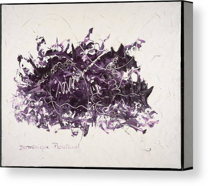 Abstract Canvas Print featuring the painting La Solitude by Dominique Boutaud