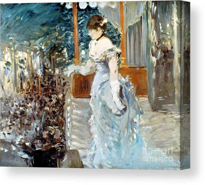 1879 Canvas Print featuring the photograph Manet: Cafe-concert, 1879 by Granger