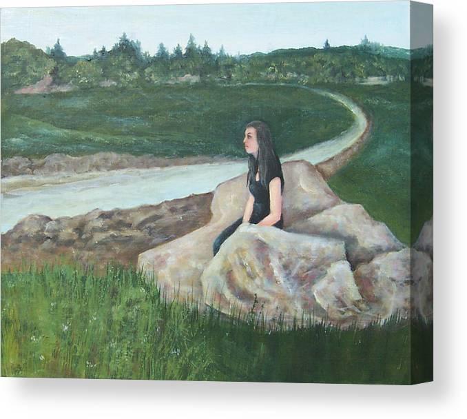 Morning Break Canvas Print featuring the painting Morning Break by Robert Harrington