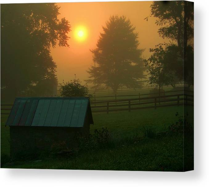 Landscape Canvas Print featuring the photograph Morning Star by Mitch Cat