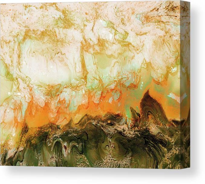 Paul Tokarski Canvas Print featuring the photograph Mountain Flames II by Paul Tokarski