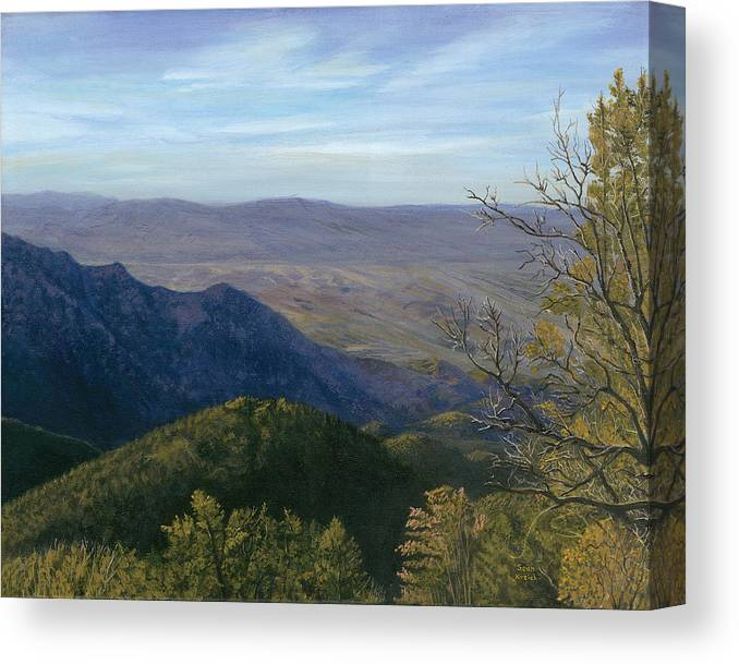 Mountain Canvas Print featuring the painting Mt. Rison by Sean Koziel